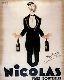 Vintage Nicholas Drinks Wine