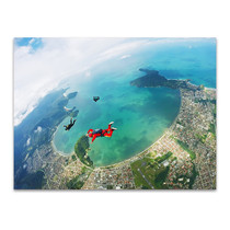 Parachutists on Coast Art Print