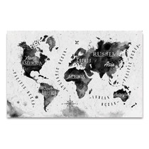 Inked Watercolor Map Wall Art Print