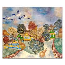Slavic Village Canvas Art Print