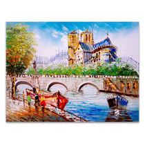 Street View of Paris in Wall Art Print