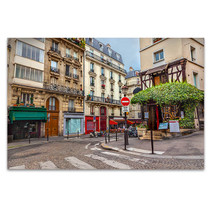 Walk with me in Streets of Paris Art Print