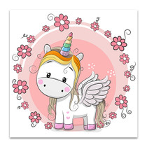 Cute Unicorn Canvas Art Print