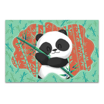 Panda in Bamboo Forest Art Print
