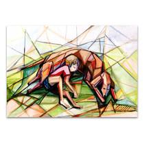 Boy and Dog Canvas Print