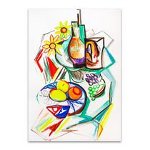Fruits Cubism Wall Art Print