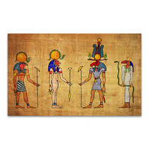 Four Egyptian Gods Canvas Print