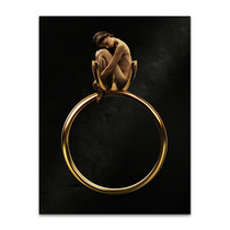 Beauty in Golden Ring Art Print