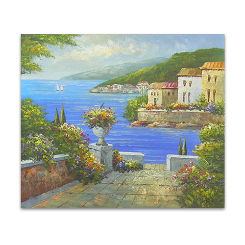 Venetian Paradise Landscape Art Oil Painting Canvas For Living Rooms