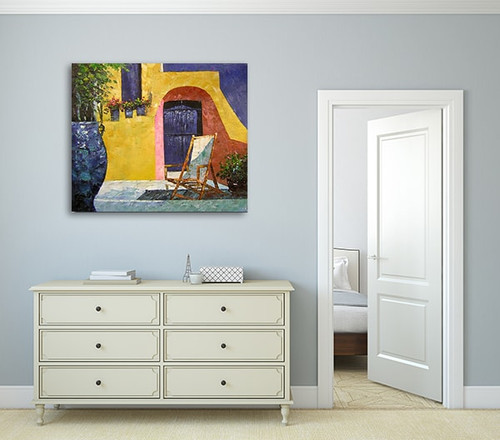 Mediterranean Style Home For Sale In Phoenix S Famed: Terrace As Large Canvas Artwork And Interior Design For Sale