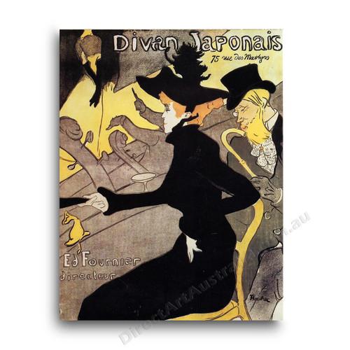 Henri de toulouse lautrec divan japonais direct art for Divan japonais