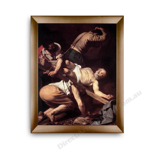 St Peter S Crucifixion Painting In Frame