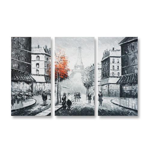 Paris canvas art 3panels