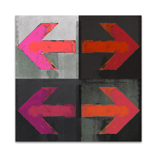 Arrows Grunge Art Print