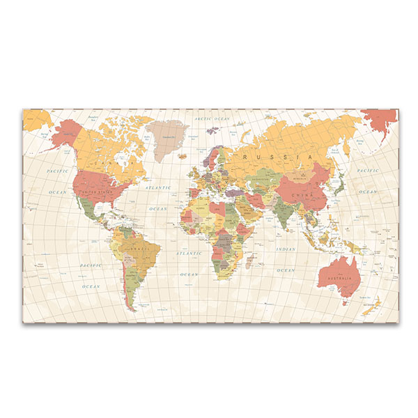 Detailed vintage world map wall art print bedroom canvases detailed vintage world map wall art print gumiabroncs Gallery