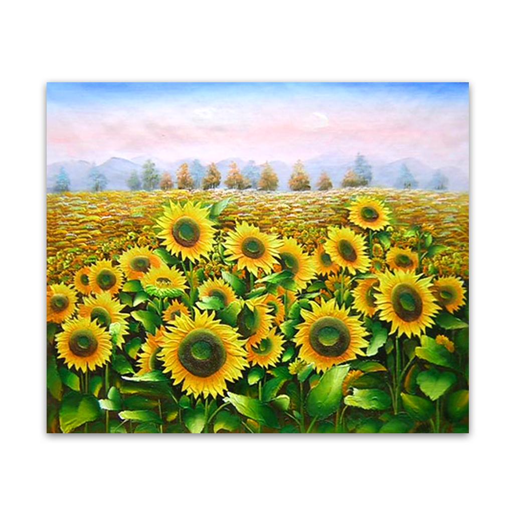 Sunflowers | Sunflower Art Canvas Painting Print