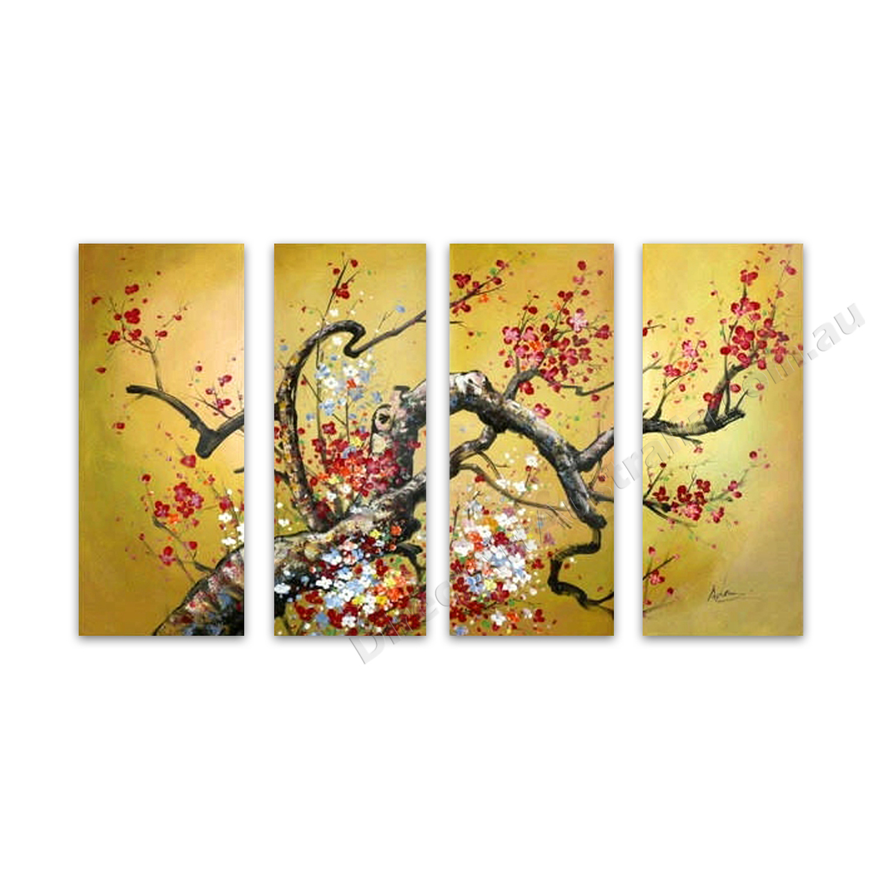 Affordable Hand Painted Flower Multi-Panel Wall Art Perth