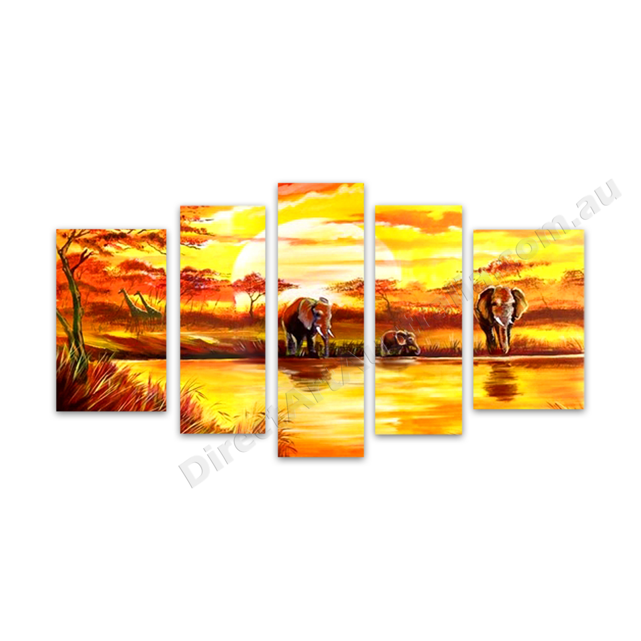 African Elephants Canvas Oil Painting for the Budget Perth