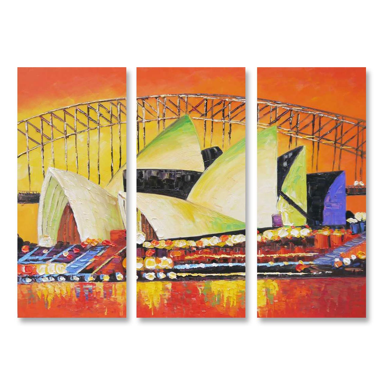 Sydney Opera House - 3panels And Home Wall Decor Ideas