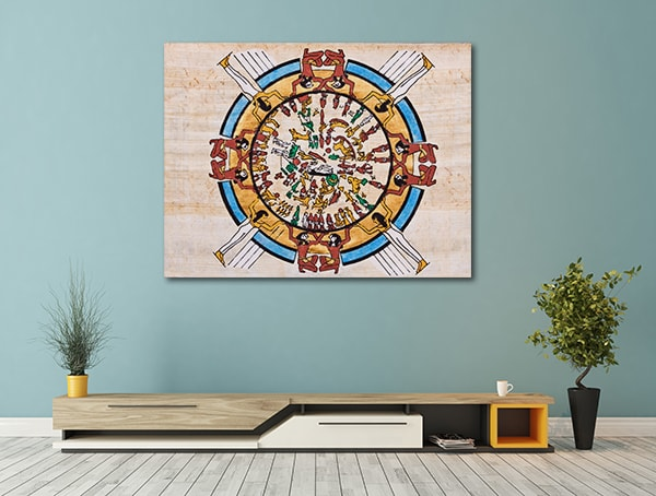 Abstract Egyptian Canvas Art