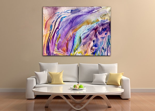 Abstract Flower Canvas Art Prints
