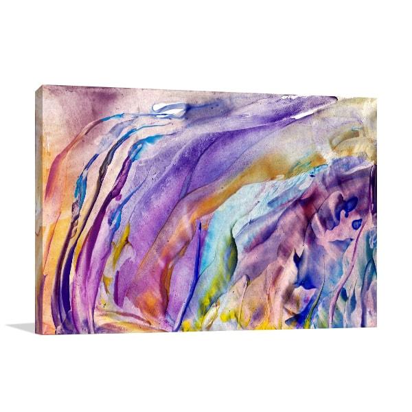 Abstract Flower Canvas Art