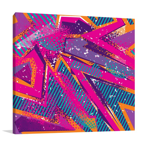 Abstract Girlish Graffiti Wall Art