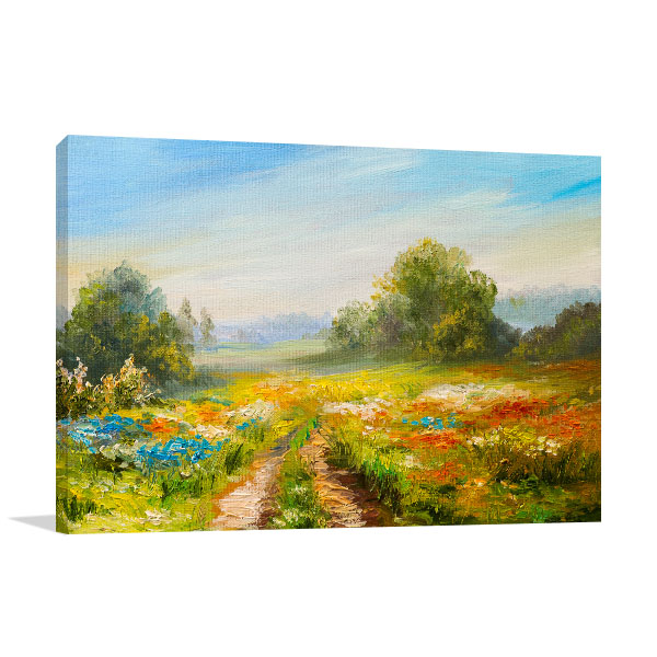 Abstract Impressionism Canvas Prints