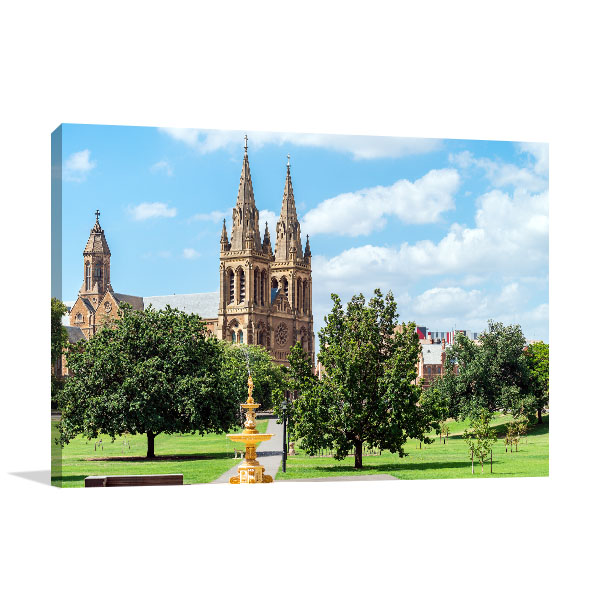 Adelaide Art Print St Peters Cathedral Wall Artwork