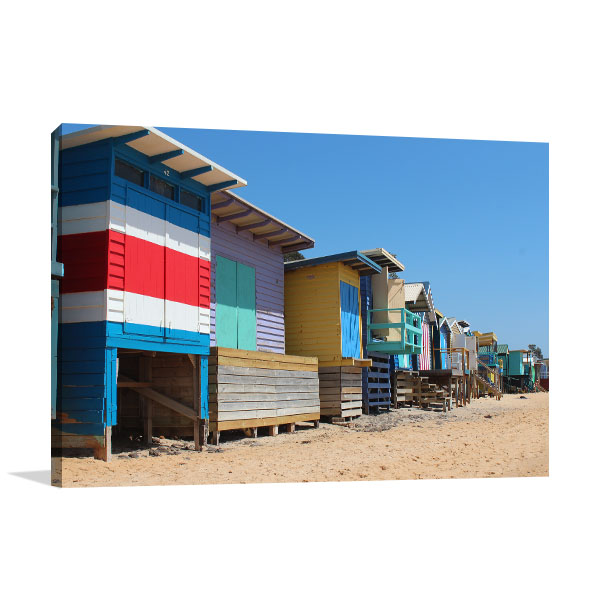 Adelaide Canvas Print Beach Houses Photo Wall