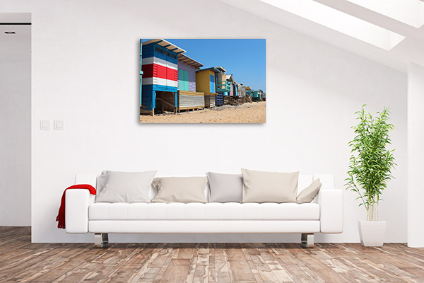 Adelaide Canvas Print Beach Houses Wall Artwork
