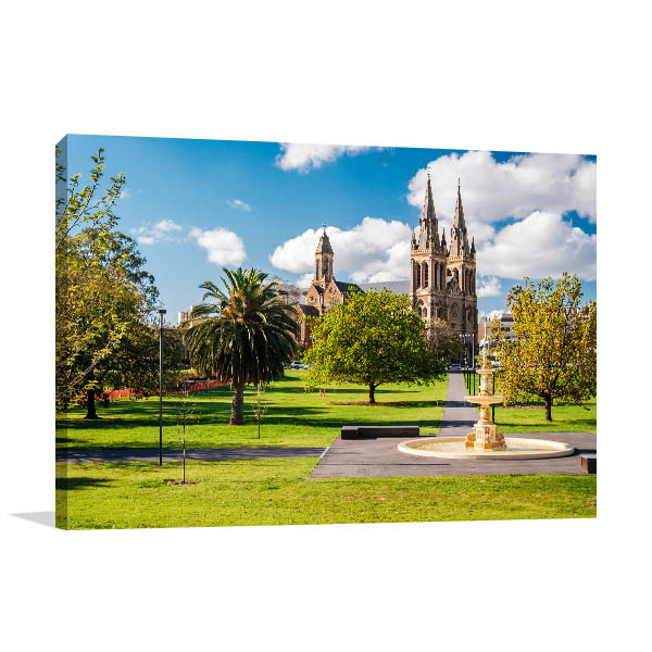 Adelaide Wall Print St Peters Cathedral Picture Art