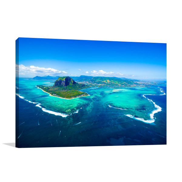 Aerial View Mauritius Print Photo Art