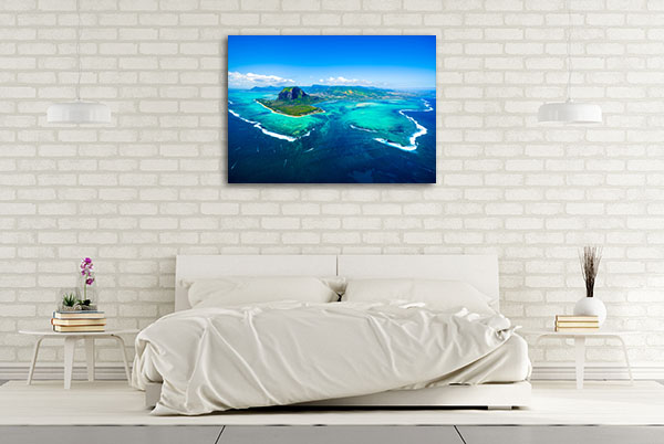 Aerial View Mauritius Canvas Art Prints