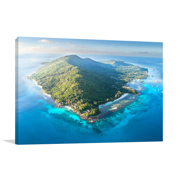 Aerial View Seychelles Canvas Art