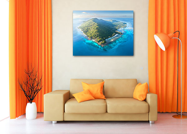 Aerial View Seychelles Print Artwork