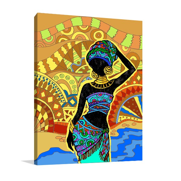 African Ancient Woman Canvas Prints