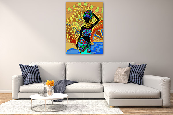 African Ancient Woman Prints Canvas