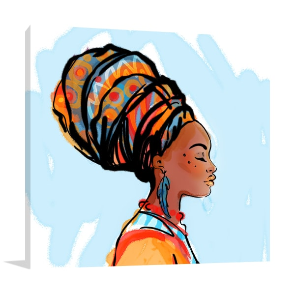 African Beauty Canvas Art