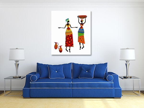 African Costume Prints Canvas