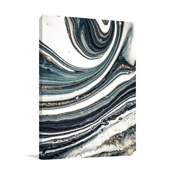 Agate Fluid Marble 4 Art Prints
