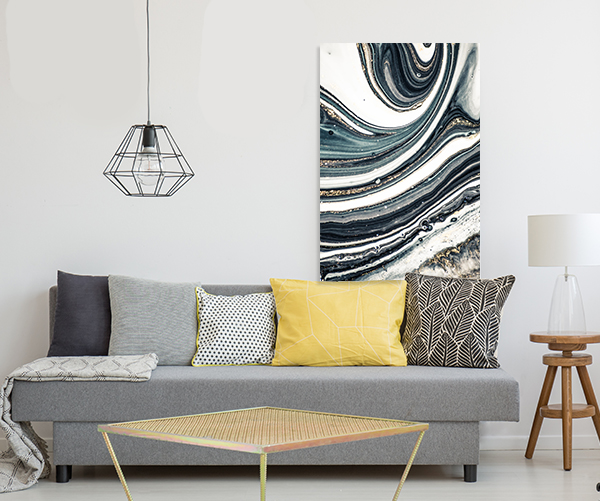 Agate Fluid Marble 4 Canvas Wall