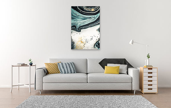 Agate Fluid Marble 5 Wall Canvas