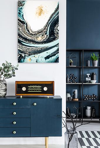 Agate Fluid Marble 7 Print Wall Art
