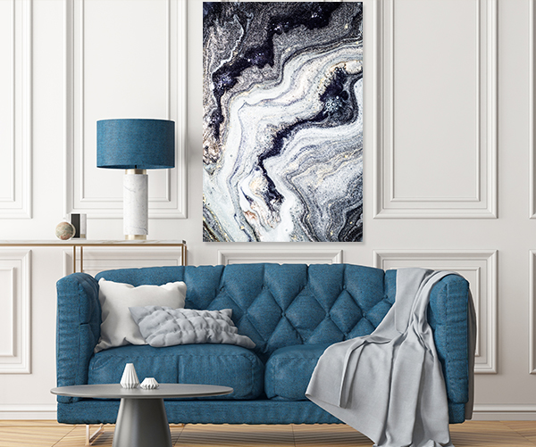 Agate Fluid Marble 8 Canvas Wall