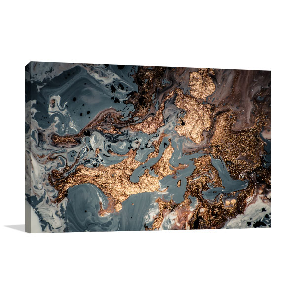 Agate Fluid Marble 9 Wall Canvas