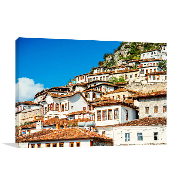 Albania Art Print White Houses Photo Wall