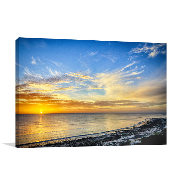 Aldinga Beach Wall Art Sunset Canvas Photo