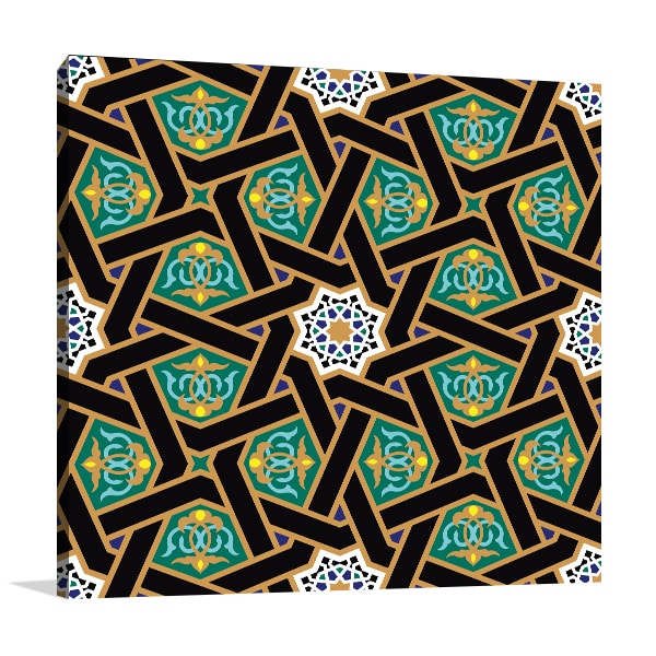 Alhambra Pattern Canvas Art Prints