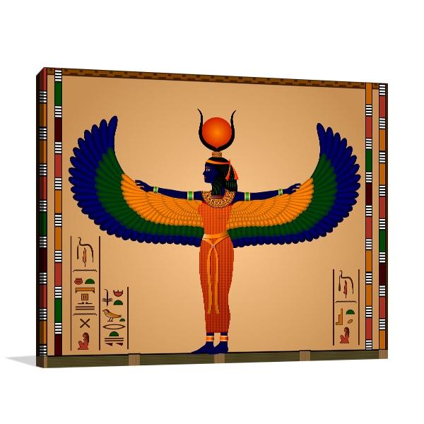 Ancient Egypt Woman Canvas Art Prints